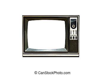 Retro Vintage television 4 - Retro Vintage television on a...