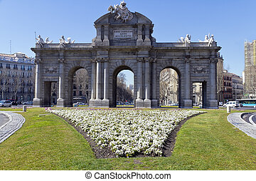 Puerta de Alcala Alcala gate in Madrid, Spain