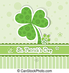 Template St. Patrick's day greeting card, vector...