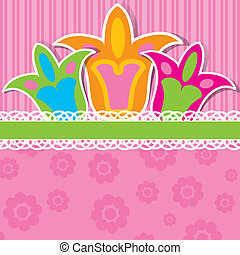 Template greeting card, scrap vector