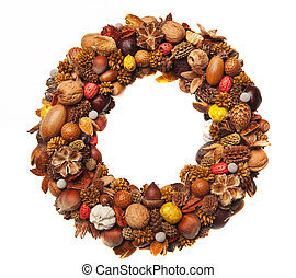 Christmas wrerath - A beautiful christmas wreath made of...