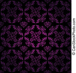 Seamless pattern, ornament lilac floral