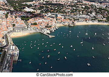 Cascais bay from the sky