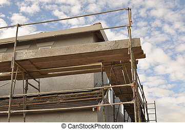 New Home Construction Scaffolding