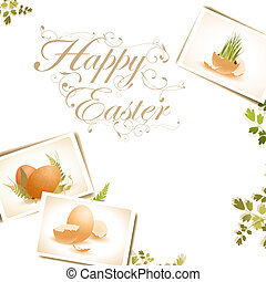 Easter background with some egg photos, copyspace for your...