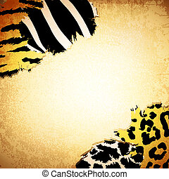 Vintage background with some animal prints - Vintage...