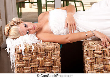 young bride layed