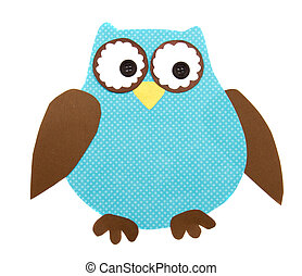 a paper cut out owl - A colorful owl cut out of paper,...