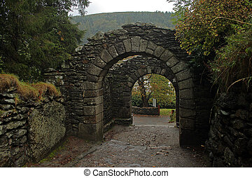 Monastic archway - Archway entrance to a 10th century...