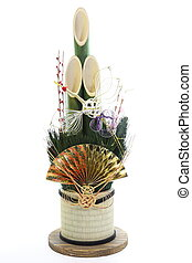 pine and bamboo - In Japan, New Year, ornaments made ??of...