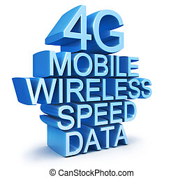 4G latest wireless communication technology standard 3d...