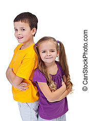 Determined and confident kids - Two determined and confident...