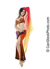 Belly dancer - Beautiful Belly dancer on white background