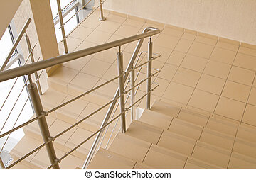 office staircase - staircase in the modern building, office,...