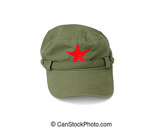 red star cap on white background