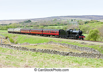 steam train, North Yorkshire Moors Railway (NYMR),...