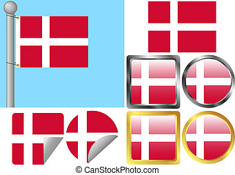Flag Set Denmark