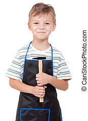 Boy with tools