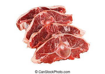 lamb chop cut out on white background