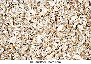 Rolled Oats seed - Dry rolled oats seed as  background