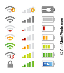 Mobile phone system icons