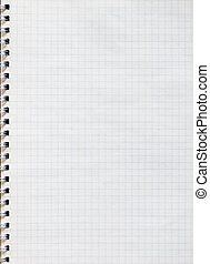Notepad - Spiral notepad graph paper