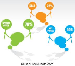 Bubble speech sale illustration