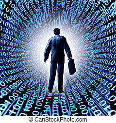 Technology Business - Technology business with a man and...