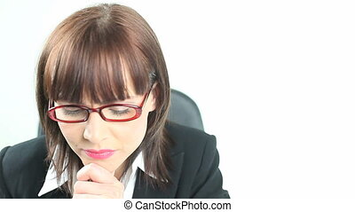 Businesswoman With An Idea - Young enthusiastic...