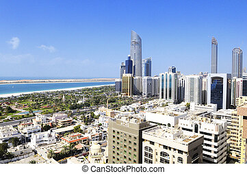 Abu Dhabi city - View of Abu Dhabi city, United Arab...