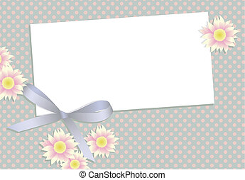 Gift card with flowers and ribbon