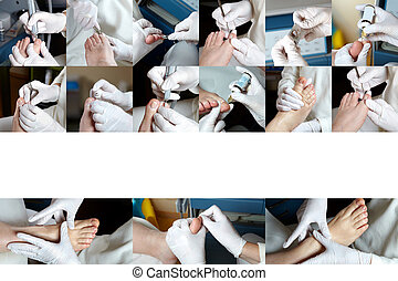 Foot Care in process - Photo Collage