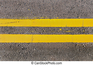 Double Yellow Lines - Double yellow lines running...