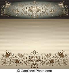 Vintage gold easter frame