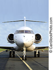 Private Jet Plane front view - Bombardier - Luxury Private...