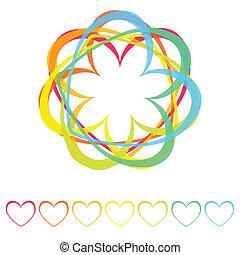 rainbow hearts icon