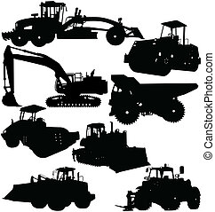 Construction Equipment - illustration of construction...