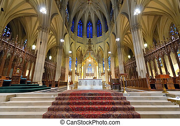 St. Patrick's Cathedral New York - Interior of St. Patrick's...