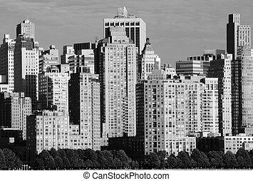 Lower Manhattan Skyline - Lower Manhattan Financial District...