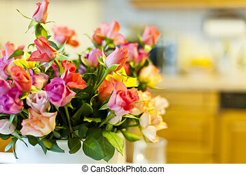 Flowers as interior decoration, nice bunch of flowers