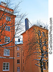Nice residential district in the center of Stockholm