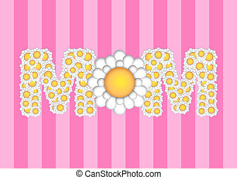 Happy Mothers Day with Daisy Flowers Pattern
