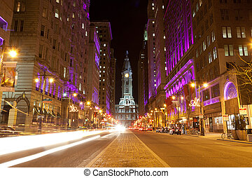 Philadelphia streets  by night