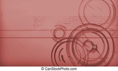 red line technology background - Motion graphic line of...