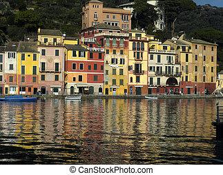 Portofino - view of Portofino coast in Italy