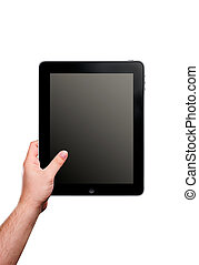 Ipad, tablet - Hand movements on tablet Example of...