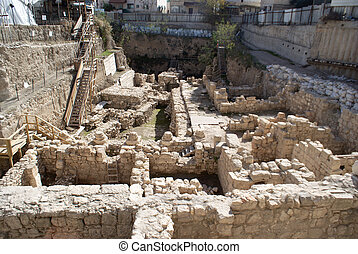 City of David excavations in Jerusalem Israeli capital