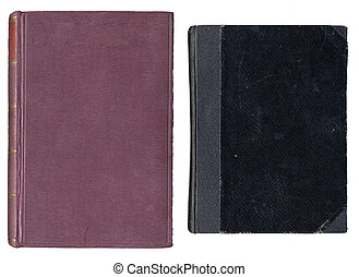 Two Old Book Covers - Salmon And Black Old Book Covers...