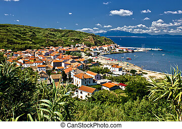 Dalmatian island of Susak village and harbor, Croatia