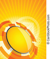 Abstract tech background in orange color - Abstract bright...